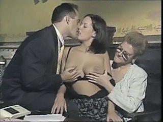 Kissing Threesome Vintage