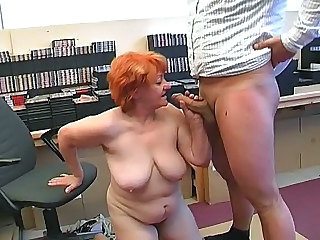 Office Blowjob Saggytits Bbw Blowjob Bbw Tits Big Tits