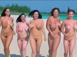Funny Beach Nudist Babe Big Tits Babe Outdoor Beach Nudist