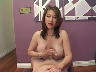 Bare breast handjob