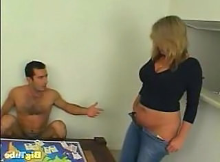 Mature housewife gets erect dick in her hole and his hot cum on throat.