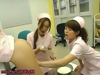 Super sexy Japanese nurses sucking part4