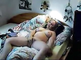 Cute chubby girl fucks and cums hard