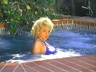 Amazing Pool Blonde Outdoor