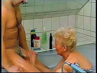 Handjob German Bathroom Bathroom European German