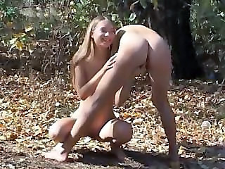 Innocent 18yo Teens Playing Outside