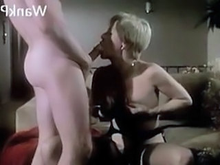 Hot mature fucks young stud while friend watches