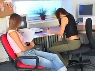Sleaze lesBians acquire wicked at the office