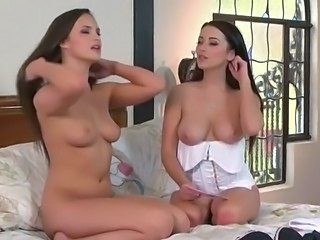 Undressed lesbo interview beside Taylor Vixen