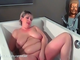 Masturbating Dildo Bathroom