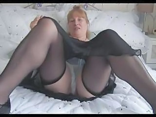 Busty Mature Granny Shows Off Hairy Pussy