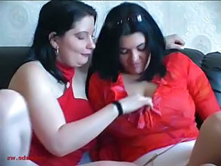 Natural busty lesbians doing each other