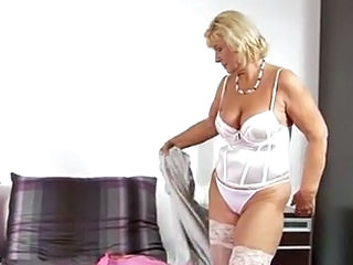 Panty Stripper Blonde Lingerie Stockings