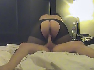 Pantyhose Riding Wife