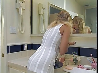 MILF Bathroom Vintage Bathroom Beautiful Blonde Blonde Lesbian