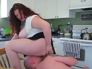 Kitchen Licking Redhead