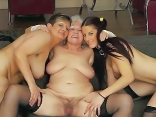 Family Lesbian Old And Young Family Grandpa Granny Hairy