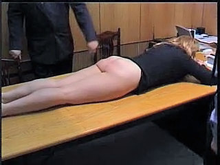 Naughty Secretary is Punished...