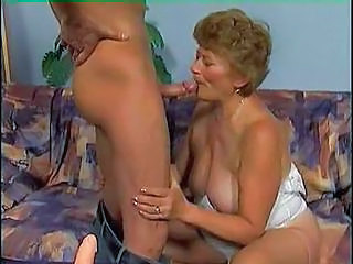 Hard Young Cock Driving Into The Granny Hole