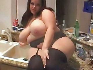 Stockings Kitchen Big Tits