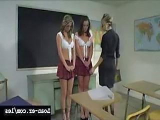 Amazing Big Tit Teacher Punishes...