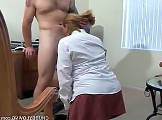 Office BBW Blowjob