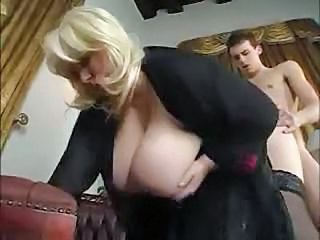 Clothed Blonde Doggystyle