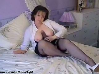 Toy Dildo Stockings Cumshot Ass Cumshot Mature Granny Stockings