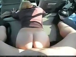 Ass Blonde Car