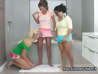 Three horny babes getting horny rubbing part3