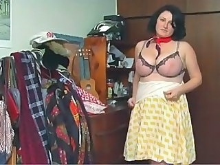 BBW BRUNETTE ZILLY BIG PINK TITS PALE SKIN HAIRY PINK PUSSY
