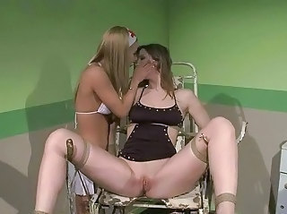 Young nurse punishing slavegirl