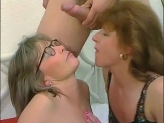 Threesome Cumshot Facial Cumshot Ass Cumshot Mature Glasses Mature