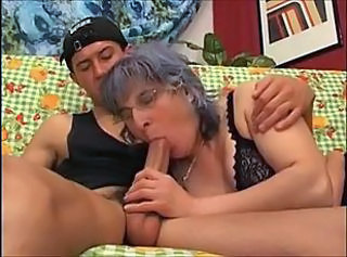 Mature in glasses and a young guy _: matures milfs old + young