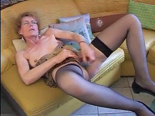 Masturbating Solo Toy Car Tits Granny Stockings Masturbating Toy