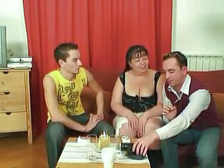 Video from: yobt1 | Fat Mature Babe Takes Two Young Cocks