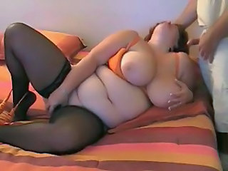 Hot Mature Curvy BBW Toying and...