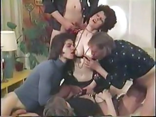 Video from: nuvid | Vintage Danish Porn With Brunette Getting A Messy Facial From Four Dicks