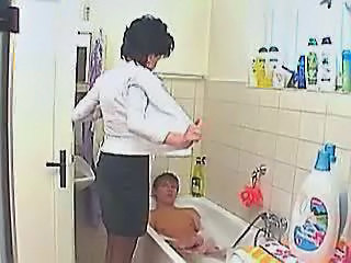 Old And Young Bathroom Stripper Bathroom Bathroom Mom Granny Sex