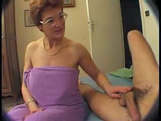 Voyeur Handjob Threesome European French French Mature