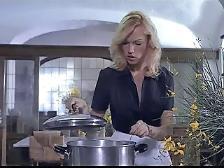 Blonde Kitchen Babe