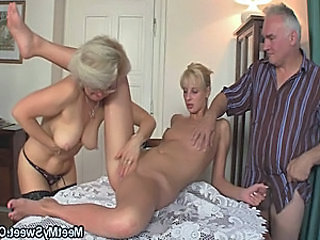 Family Threesome Nipples Family Old And Young
