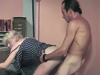 Doggystyle Clothed Hardcore Granny Blonde