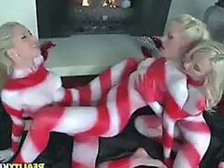 Xmas Candy Cane Ladies