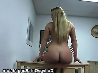 School Ass Blonde