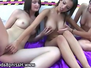 Amateur sorority girls go lesbian for first time