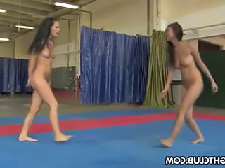 Brandy And Sheila Are Wrestling Nude And Then Get Going On The Pussy