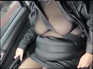 Car BBW Saggytits Bbw Tits Car Tits Leather