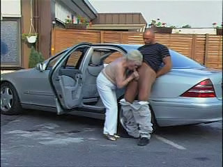 Car Outdoor Old And Young Car Blowjob Granny Cock Granny Stockings