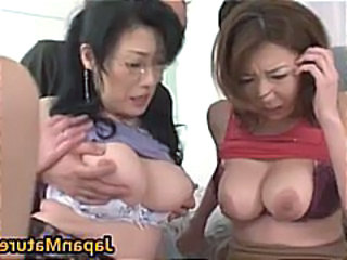 Japanese Asian Threesome Asian Mature Glasses Mature Japanese Mature
